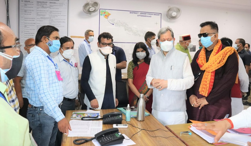 The Chief Minister of the state, Shri Tirath Singh Rawat, reached Rudrapur on a one-day visit.