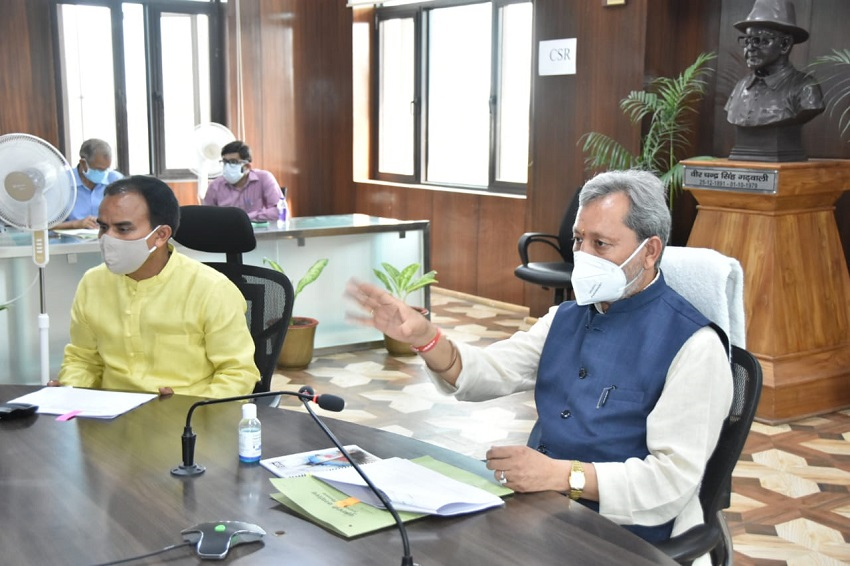 The Chief Minister reviewed the implementation of the announcements made for various assembly constituencies of Pauri district.
