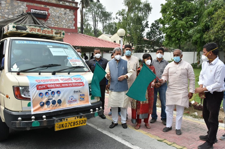 The Chief Minister flagged off the 'Respect Relief Service' of Hill-Mail Foundation.