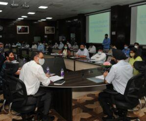 Chief Secretary Dr. ss Sandhu reviewed the Energy Department at the Secretariat on Monday.