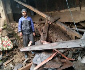 A house collapsed and an ox shed due to heavy rain.